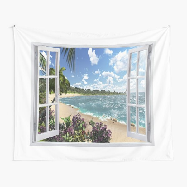 #Summer, #tropical, #beach, #water, sand, sea, island, travel, idyllic, sky, nature Tapestry