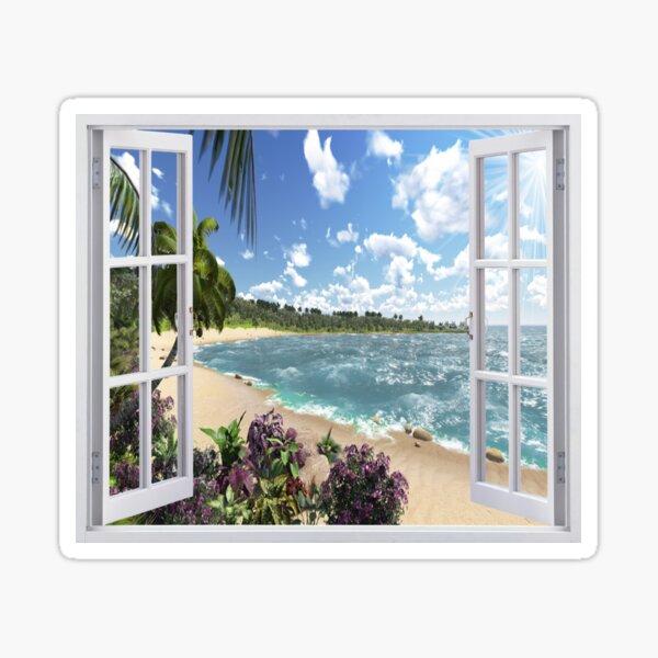 #Summer, #tropical, #beach, #water, sand, sea, island, travel, idyllic, sky, nature Sticker