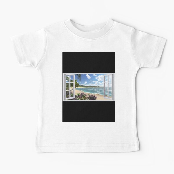 #Summer, #tropical, #beach, #water, sand, sea, island, travel, idyllic, sky, nature Baby T-Shirt