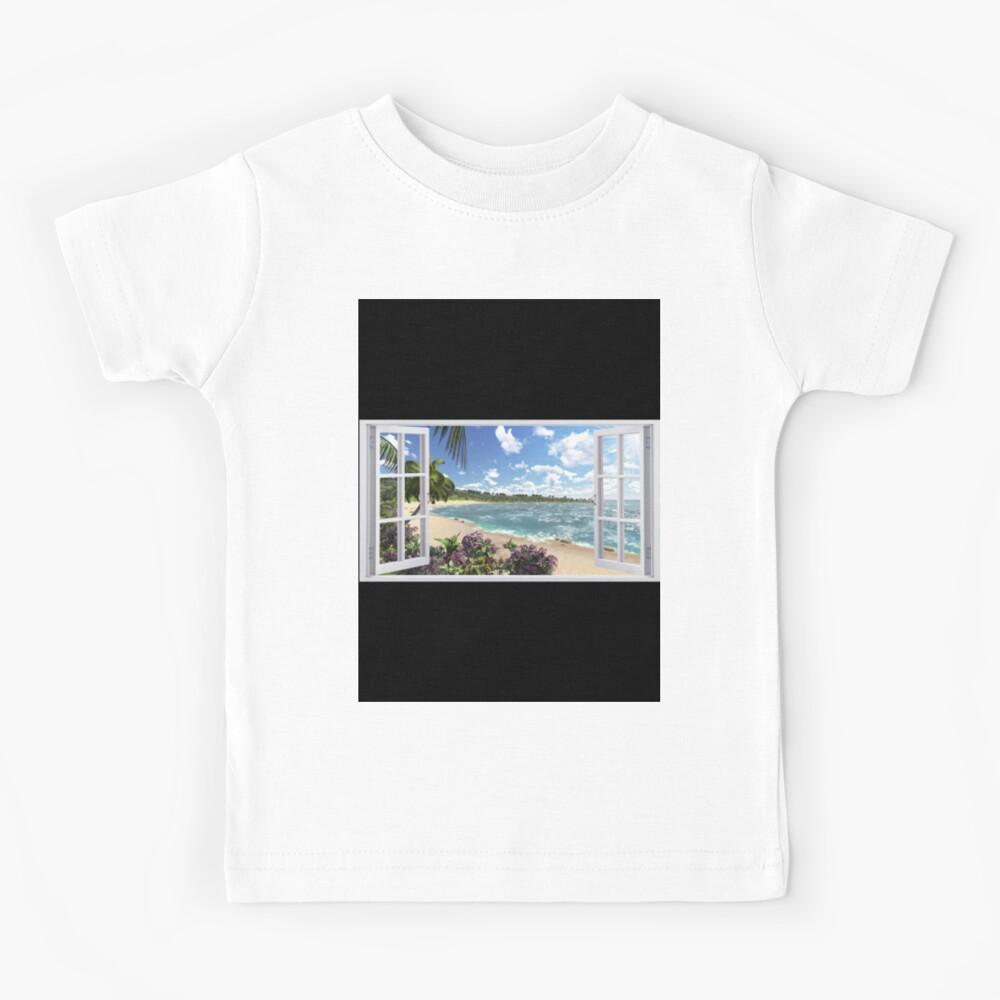 #Summer, #tropical, #beach, #water, sand, sea, island, travel, idyllic, sky, nature Kids T-Shirt