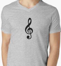 Music Note Men's V-Neck T-Shirt