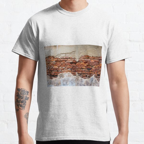 #Wall #Mural: #Brick and #Plaster Classic T-Shirt