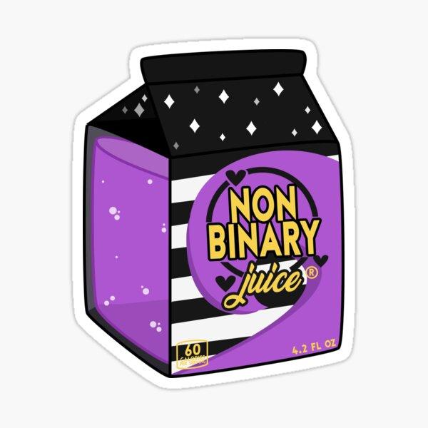 Non-Binary Juice Sticker