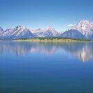 Grand Teton Reflection on Jackson Lake by Graeme Wallace