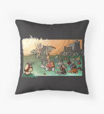 Epic battle! Throw Pillow