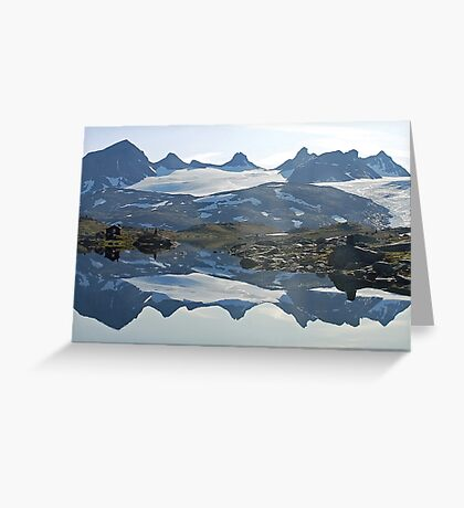 Sognefjell (Norway) reflected Greeting Card