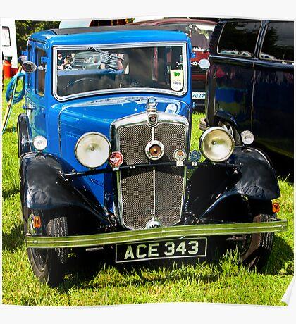 1934 Morris 10/4 Vintage Car Poster