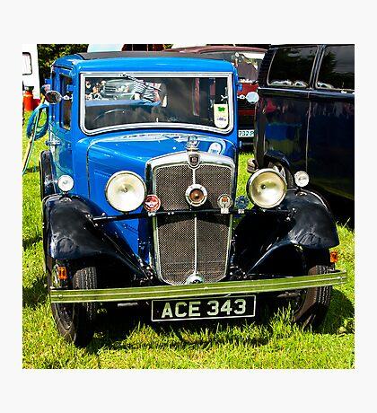 1934 Morris 10/4 Vintage Car Photographic Print