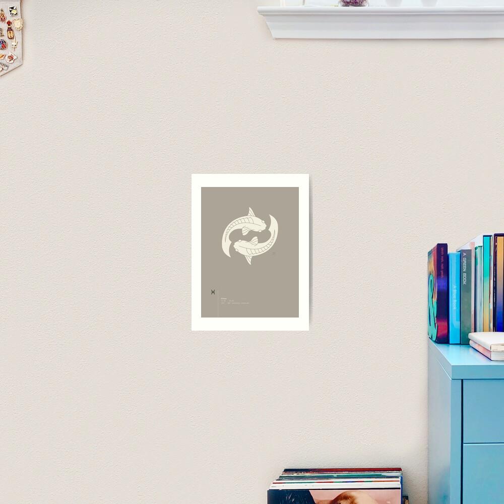 Pisces Star Sign Art Print
