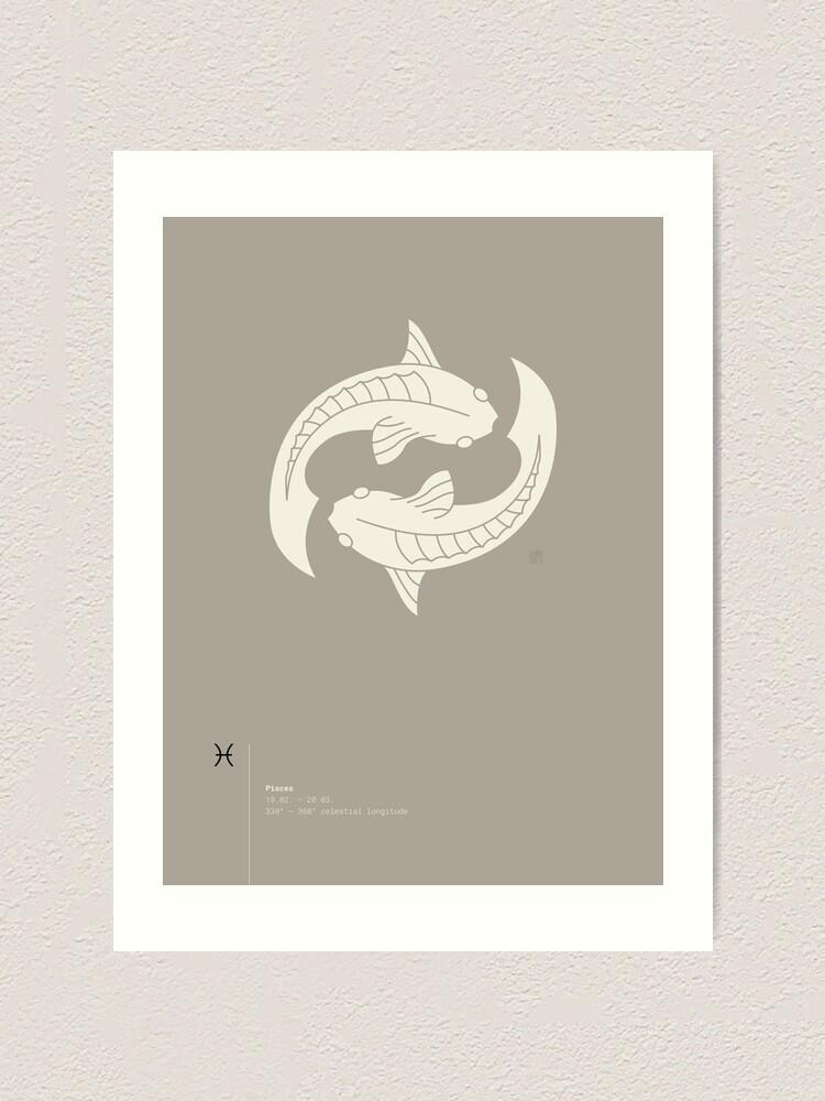 Alternate view of Pisces Star Sign Art Print