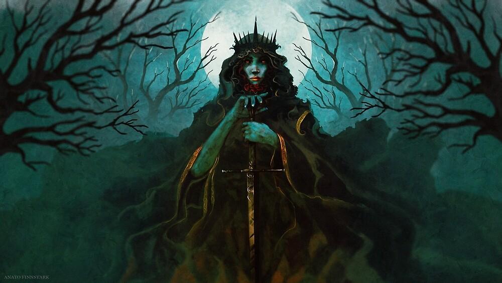 Priestess of the black root by Anatofinnstark