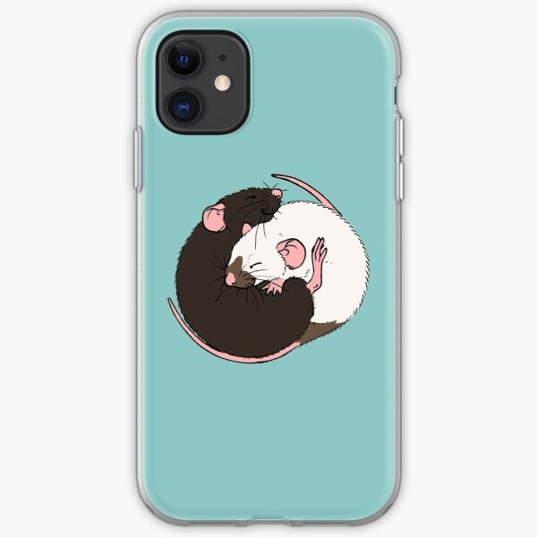 Cuddling Rats Siamese and Black iPhone Soft Case