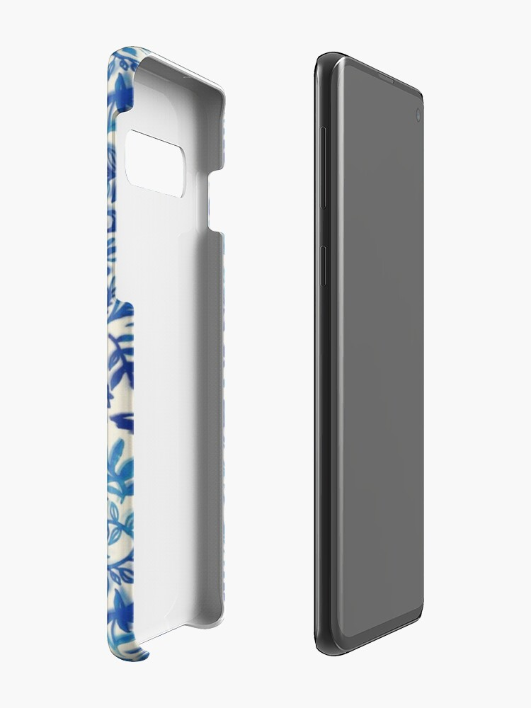 Alternate view of Floating Garden - a watercolor pattern in blue Case & Skin for Samsung Galaxy