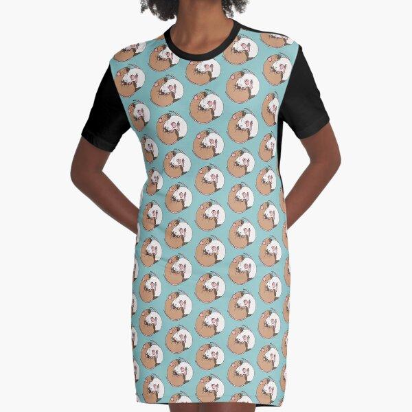 Cuddling Rats Siamese and Burmese Graphic T-Shirt Dress