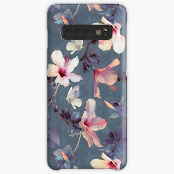 Butterflies and Hibiscus Flowers - a painted pattern Samsung Galaxy Snap Case