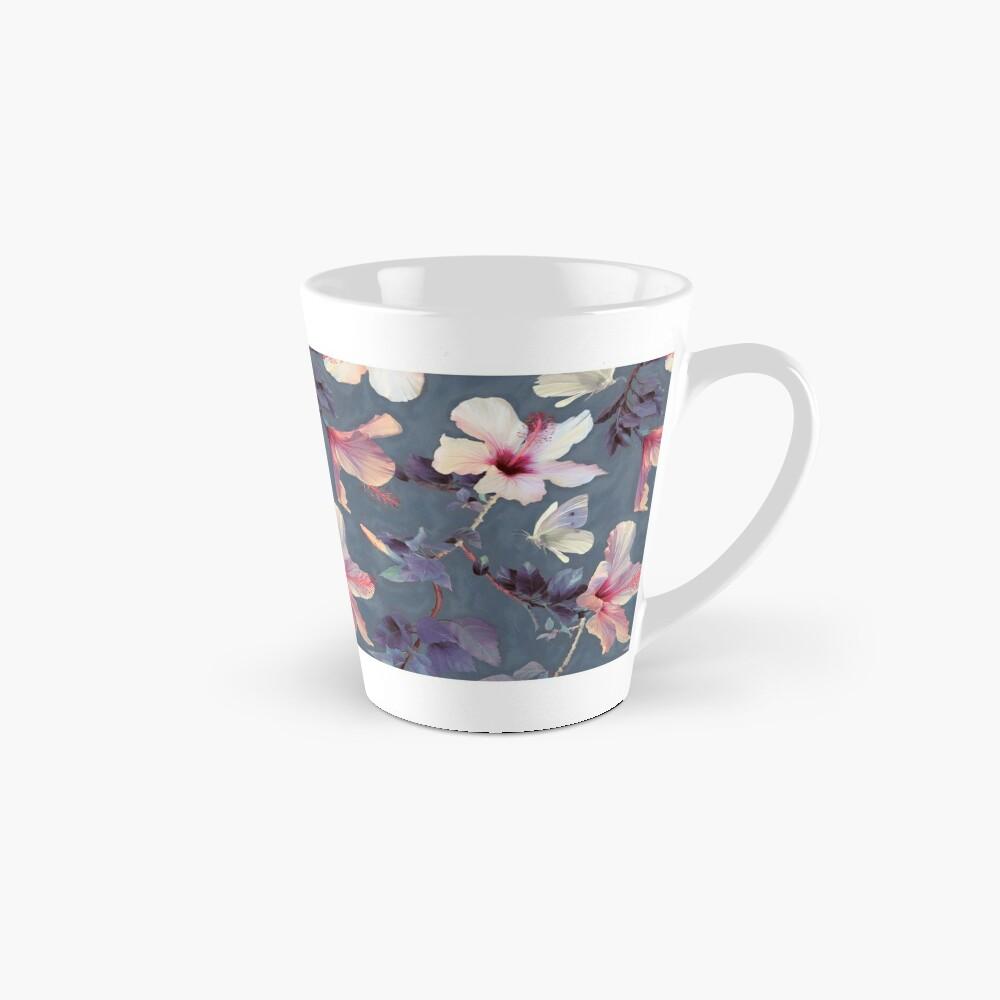 Schmetterlinge und Hibiskus-Blumen - ein gemaltes Muster Tassen