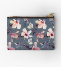 Schmetterlinge und Hibiskus-Blumen - ein gemaltes Muster Täschchen