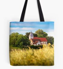 Postcard View of St Mary the Virgin, Silchester Tote Bag