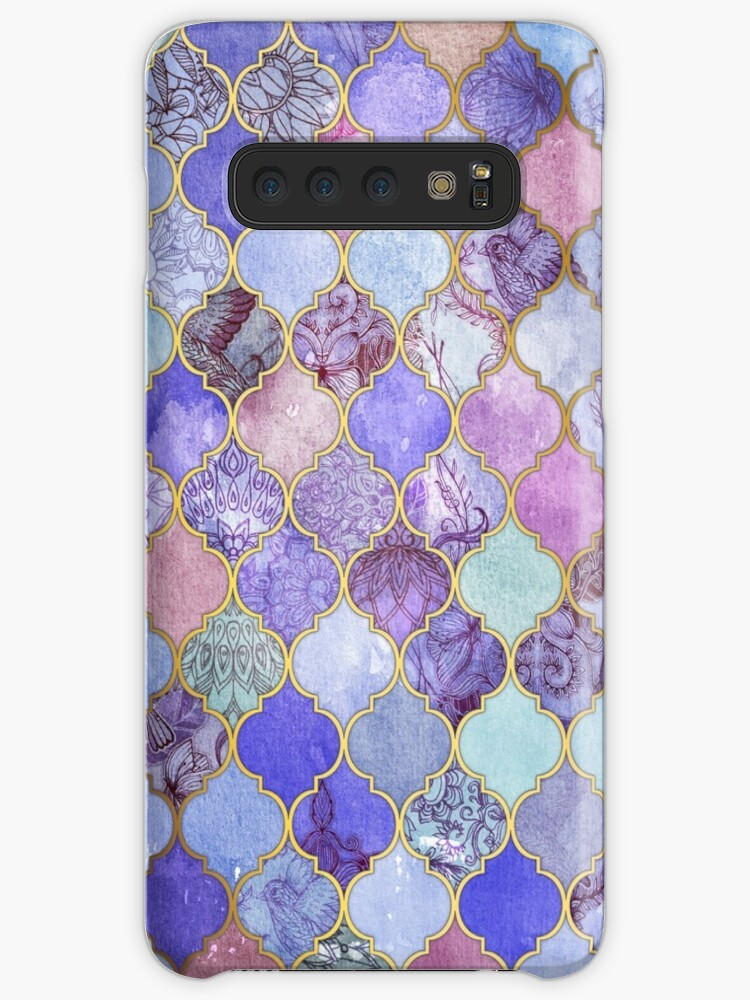 «Patrón decorativo de azulejos marroquíes de Royal Purple, Mauve & Indigo» de micklyn