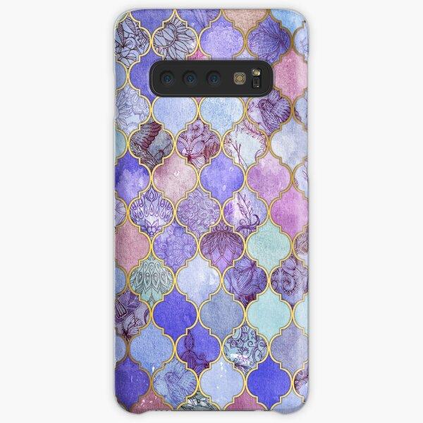 Royal Purple, Mauve & Indigo Decorative Moroccan Tile Pattern Samsung Galaxy Snap Case