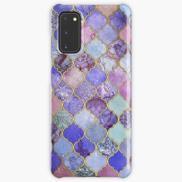 Royal Purple, Mauve & Indigo Decorative Moroccan Tile Pattern Samsung Galaxy Snap Case