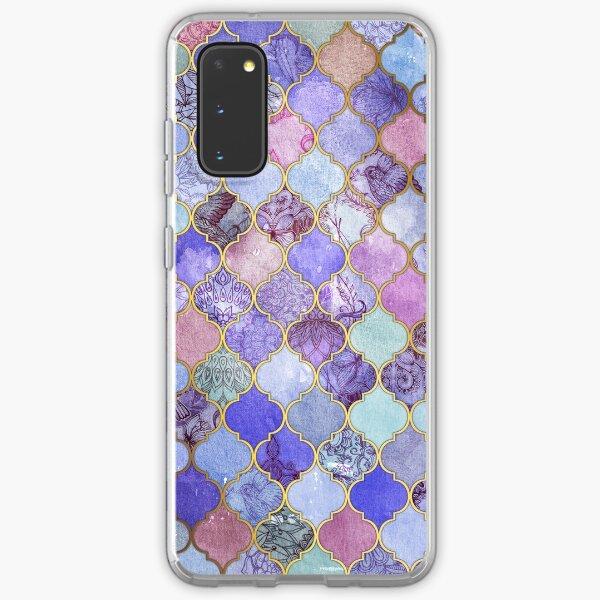 Royal Purple, Mauve & Indigo Decorative Moroccan Tile Pattern Samsung Galaxy Soft Case