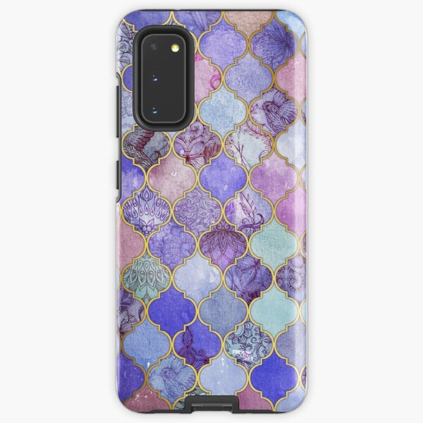 Royal Purple, Mauve & Indigo Decorative Moroccan Tile Pattern Samsung Galaxy Tough Case