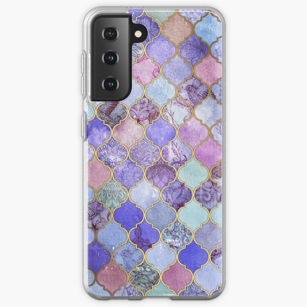 Royal Purple, Mauve & Indigo Decorative Moroccan Tile Pattern Samsung Galaxy Soft Case
