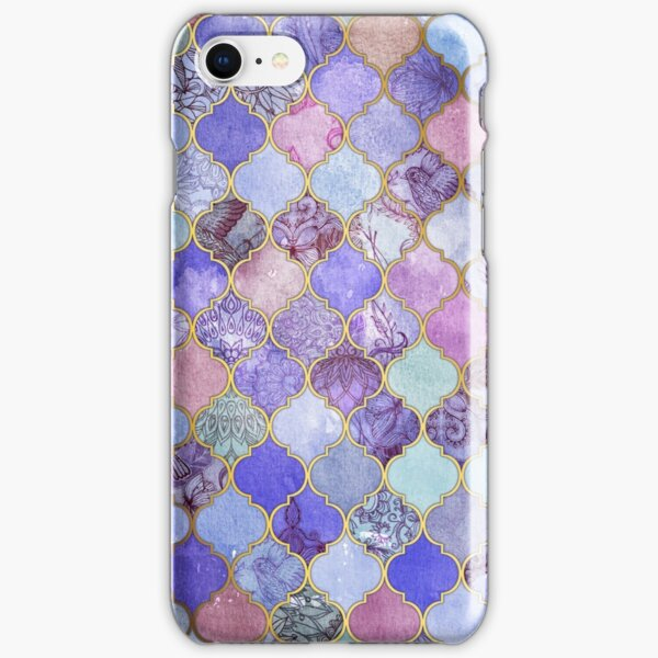 Royal Purple, Mauve & Indigo Decorative Moroccan Tile Pattern iPhone Snap Case
