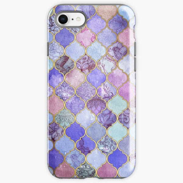 Royal Purple, Mauve & Indigo Decorative Moroccan Tile Pattern iPhone Tough Case