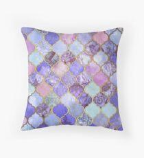 Cojín Patrón decorativo de azulejos marroquíes de Royal Purple, Mauve & Indigo