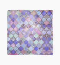 Königliches purpurrotes, malvenfarbenes u. Indigo-dekoratives marokkanisches Fliesen-Muster Tuch