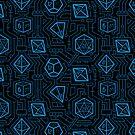 Tech D20 Pattern [Blau] von MaratusFunk