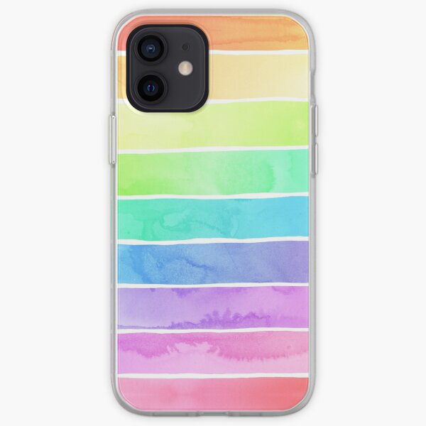 Summer Sorbet Rainbow Stripes iPhone Soft Case