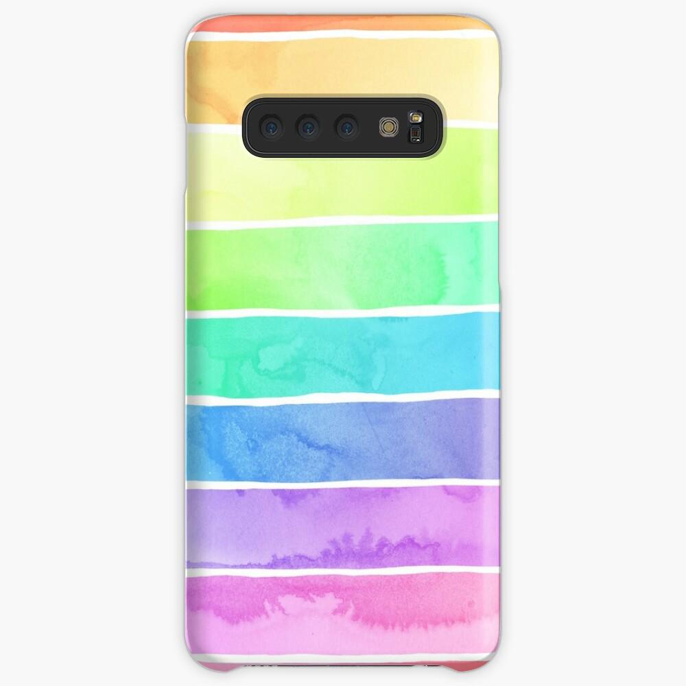 Summer Sorbet Rainbow Stripes Case & Skin for Samsung Galaxy