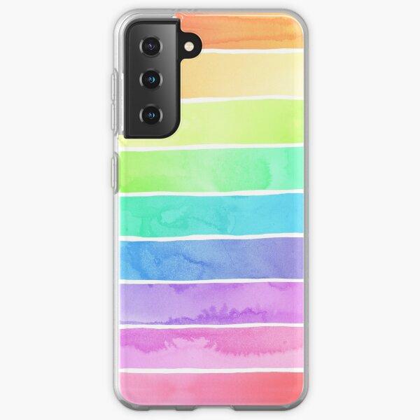 Summer Sorbet Rainbow Stripes Samsung Galaxy Soft Case