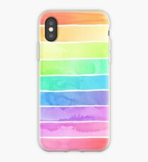 Sommer Sorbet Rainbow Stripes iPhone-Hülle & Cover