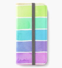 Sommer Sorbet Rainbow Stripes iPhone Flip-Case/Hülle/Klebefolie