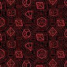 Tech D20 Pattern [Rot] von MaratusFunk