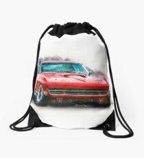 Red Corvette Stingray Drawstring Bag