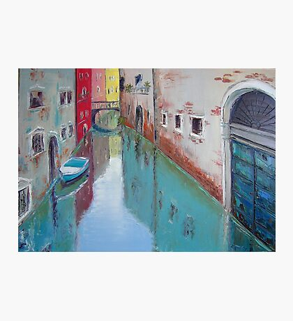 A narrow canal in Venice Photographic Print