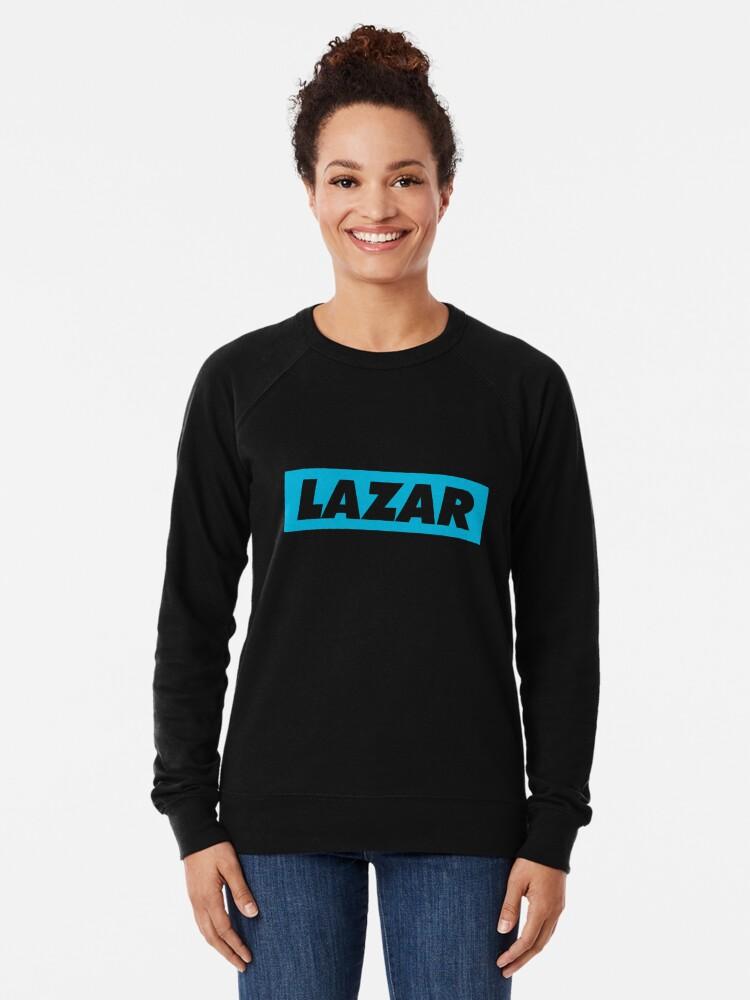 Alternate view of Lazar - Blue Logo Lightweight Sweatshirt