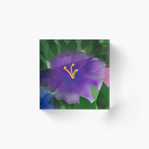 Tropical flower Acrylic Block