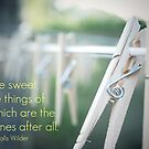Clothespin - card with quote* by Tara Wagner