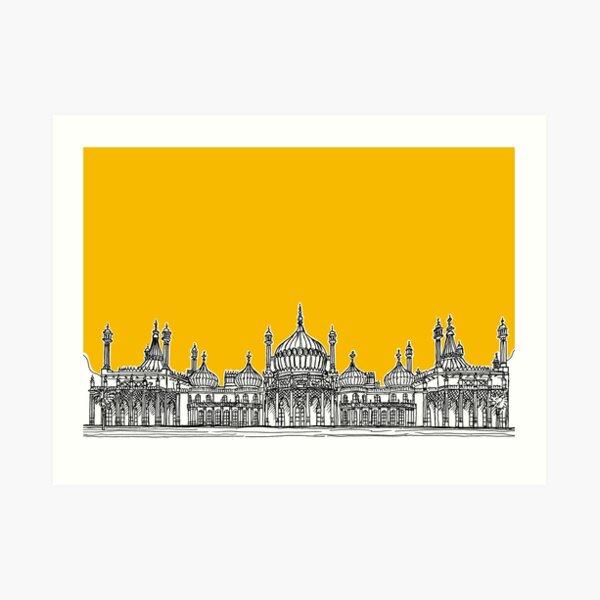 Brighton Royal Pavilion Facade ( yellow version ) Art Print