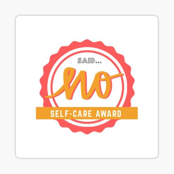 Self-care Award Sticker
