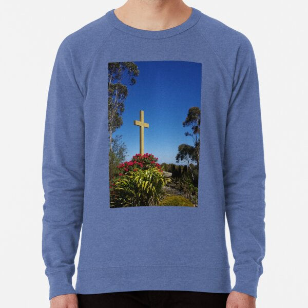 War Memorial Cross, Mount Macedon, Australia Lightweight Sweatshirt