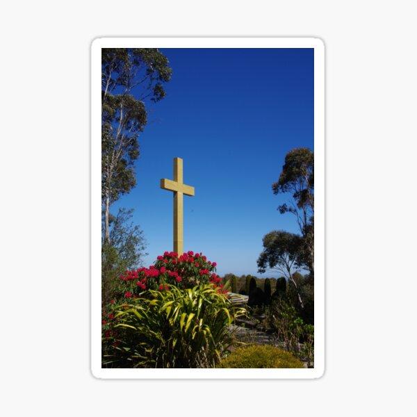 War Memorial Cross, Mount Macedon, Australia Sticker