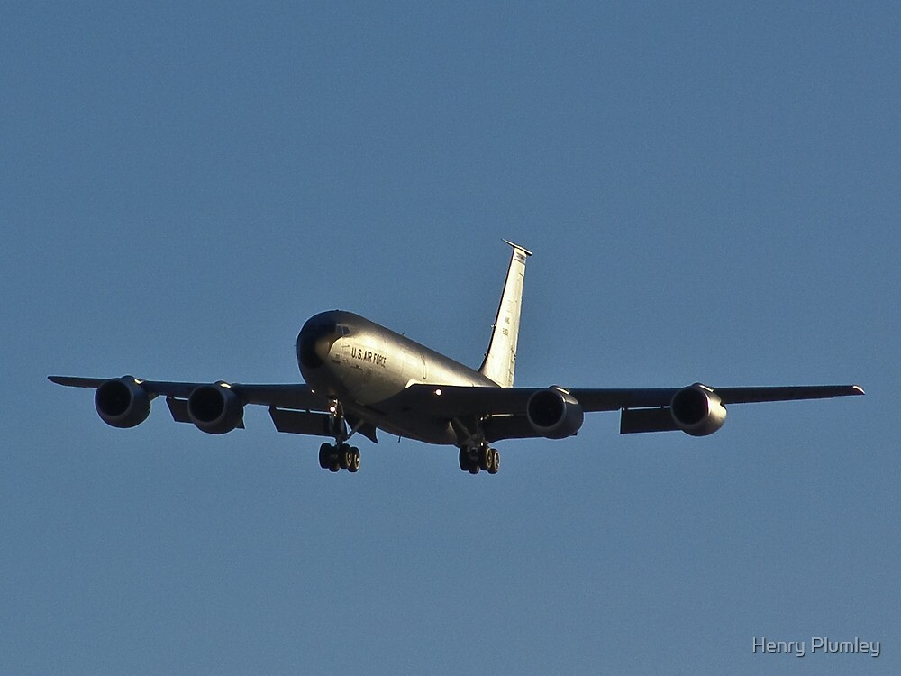 Gas station in the sky - KC-135 Strato-tanker by Henry Plumley