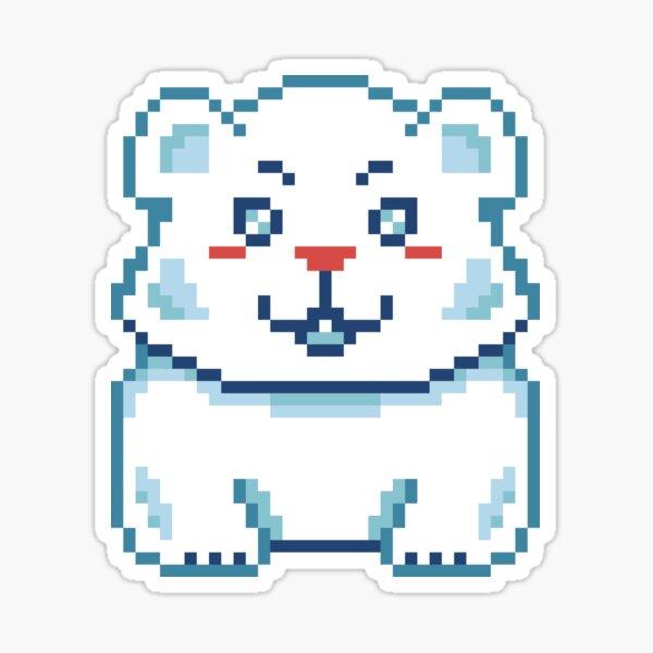 Cute Polar Bear Pixel Sticker